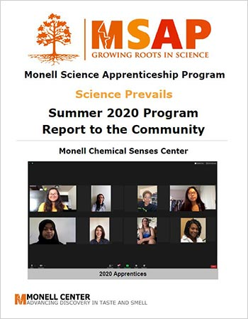 Monell Science Apprenticeship Program Summer 2020